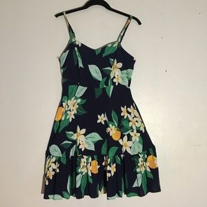 Old Navy Blue fit & flare floral sun dress Small